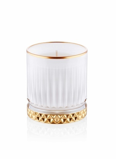 The Mia Cam İçi Dolu Mumluk - Beyaz Gold 10 X 8 Cm Renkli